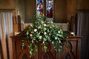 howell manor open day new year church flowers alter