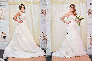 howell manor open day new year catwalk models wedding dresses