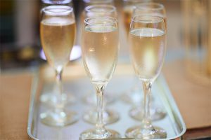 howell manor open day new year bubbly fizz champagne glasses