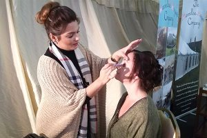 howell manor open day new year catwalk makeup hair artist model