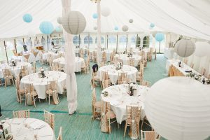 howell manor, lincolnshire wedding venue, marquee, marquee dressing, marquee interior