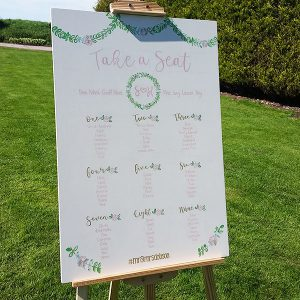 table plan, wedding stationary, beths boards lincoln, ivory & pink