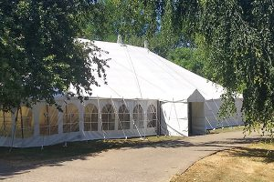 marquee in the grounds at Howell Manor