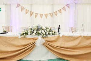 howell manor, lincolnshire wedding venue, flowers, top table