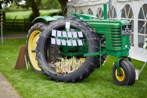 howell manor, lincolnshire wedding venue, farm wedding, vintage john deere, tractor tyre, seating plan