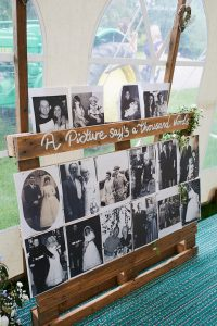 howell manor, lincolnshire wedding venue, photograph board, bride and groom photos